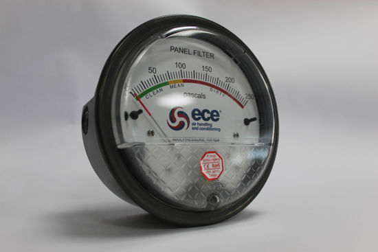 Picture of Custom ECE Magnehelic Differential Pressure Gauge, range 0-250 Pa (Panel Filters)