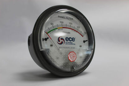 Picture of Custom ECE Magnehelic Differential Pressure Gauge, range 0-500 Pa (Bag Filters)